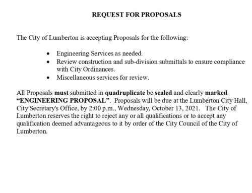 Engineering Request for Proposals